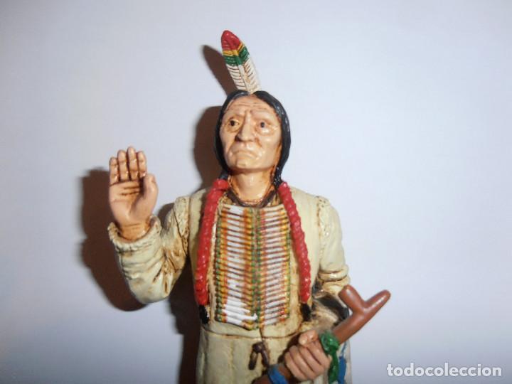 Figuras de Goma y PVC: FIGURA TORO SENTADO - SITTING BULL - HEROES OF THE WEST - COMANSI - Foto 2 - 194870987