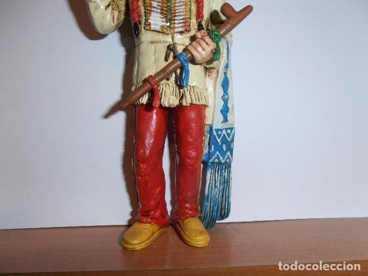 Figuras de Goma y PVC: FIGURA TORO SENTADO - SITTING BULL - HEROES OF THE WEST - COMANSI - Foto 3 - 194870987