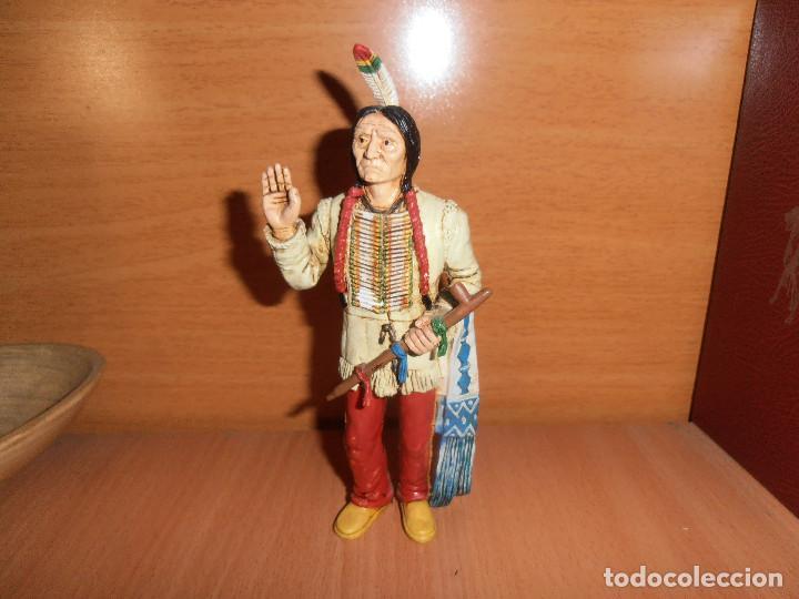 Figuras de Goma y PVC: FIGURA TORO SENTADO - SITTING BULL - HEROES OF THE WEST - COMANSI - Foto 4 - 194870987