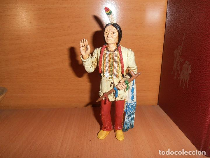 Figuras de Goma y PVC: FIGURA TORO SENTADO - SITTING BULL - HEROES OF THE WEST - COMANSI - Foto 5 - 194870987