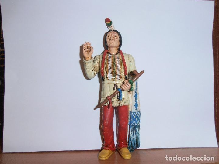 FIGURA TORO SENTADO - SITTING BULL - HEROES OF THE WEST - COMANSI (Juguetes - Figuras de Goma y Pvc - Comansi y Novolinea)