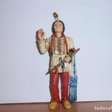 Figuras de Goma y PVC: FIGURA TORO SENTADO - SITTING BULL - HEROES OF THE WEST - COMANSI. Lote 194870987