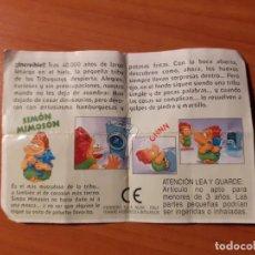 Figuras Kinder: BPZ KINDER PAPEL DE INSTRUCCIONES TRIBUGUAYS, SIMÓN MIMOSÓN. Lote 194882352
