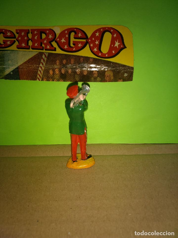 Figuras de Goma y PVC: FIGURA EN GOMA MUSICO TROMPETA CIRCO DIR DOR JECSAN AÑOS 60 MUY BUEN ESTADO - Foto 2 - 194891727