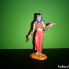 Figuras de Goma y PVC: FIGURA EN GOMA MUJER CON SERPIENTE CIRCO DIR DOR JECSAN AÑOS 60 MUY BUEN ESTADO. Lote 194892260