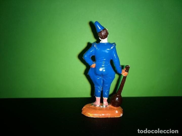 Figuras de Goma y PVC: FIGURA EN GOMA PAYASO CON MANDOLINA CIRCO DIR DOR JECSAN AÑOS 60 MUY BUEN ESTADO - Foto 2 - 194892903