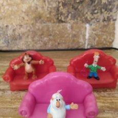 Figuras de Goma y PVC: YOLANDA LOTE DE 3 SOFAS CON MUÑECO PVC. Lote 194923012