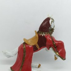 Figuras de Goma y PVC: CABALLO MEDIEVAL. Lote 194939786