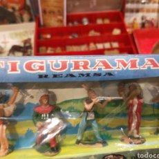 Figuras de Goma y PVC: REAMSA FIGURAMA CAJA INDIOS. Lote 194958018
