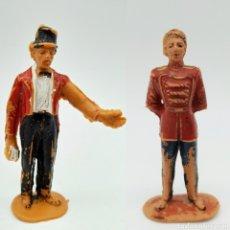 Figuras de Goma y PVC: CIRCO DIR Y DOR DE JECSAN, DIRECTOR DE PISTA Y MOZO. Lote 194970646