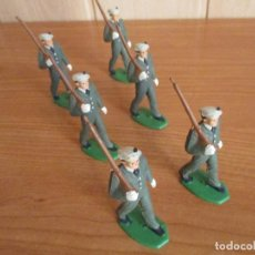 Figuras de Goma y PVC: LOTE 6 SOLDADOS ANTIGUOS DESFILANDO ( PECH , JECSAN , REAMSA , TEIXIDO , OLIVER , COMANSI , ETC). Lote 194982283