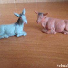 Figuras de Goma y PVC: LOTE 2 FIGURAS ANIMALES BELEN ANTIGUAS, ( PECH, JECSAN , REAMSA , TEIXIDO , OLIVER , COMANSI , ETC). Lote 194985937