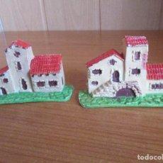 Figuras de Goma y PVC: LOTE 2 EDIFICIOS ANTIGUOS ( PECH , JECSAN , REAMSA , TEIXIDO , OLIVER , COMANSI , ETC). Lote 194986075