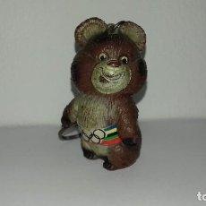 Figuras de Goma y PVC: ANTIGUA FIGURA DE GOMA LLAVERO EL OSITO MISHA MASCOTA OLIMPIADAS MOSCU 1980. Lote 195005333