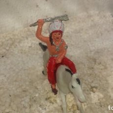 Figuras de Goma y PVC: INDIO Y CABALLO DE REAMSA. Lote 195008310