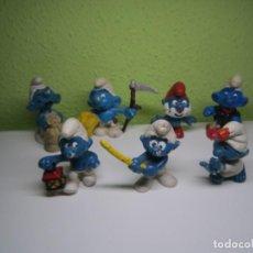Figuras de Goma y PVC: LOTE DE 7 PITUFOS. Lote 195040787