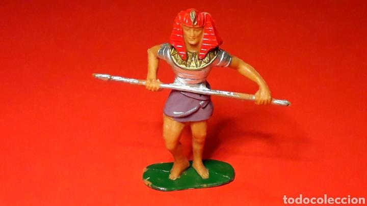 GUERRERO EGIPCIO, SERIE EGIPCIOS, PLÁSTICO, JECSAN MADE IN SPAIN, ORIGINAL AÑOS 60. (Juguetes - Figuras de Goma y Pvc - Jecsan)
