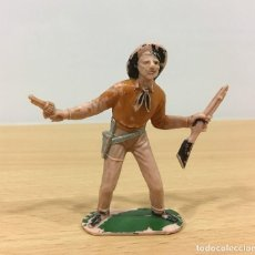Figuras de Goma y PVC: FIGURA DEL OESTE - VAQUERO DE JECSAN - COWBOY PARA JECSARAMAS DE LOS AÑOS 70. Lote 195057473