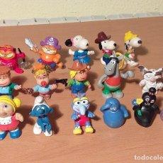 Figuras de Goma y PVC: LOTE 16 MUÑECOS ANTIGUOS PVC BULLY, PEYO, COMICS SPAIN... AÑOS 50 AL 80 BIEN CONSERVADOS . Lote 195059083
