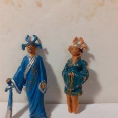 Figuras de Goma y PVC: JECSAN PAREJA MAGOS CHINOS JECSAN PLASTICO PARA RESTAURAR. Lote 195112536