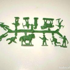 Figuras de Goma y PVC: MONTAPLEX 1 COLADA DE INDIOS Y COWBOYS - COLOR FOTO. Lote 195114287