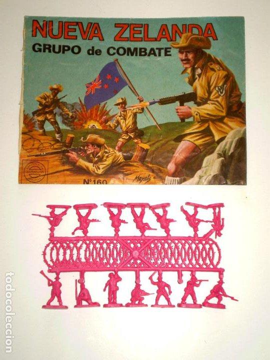 MONTAPLEX SOBRE Nª 160 NUEVA ZELANDA VACÍO + 1 COLADA DE SOLDADOS NEOZELANDESES ANZAC (Juguetes - Figuras de Goma y Pvc - Montaplex)