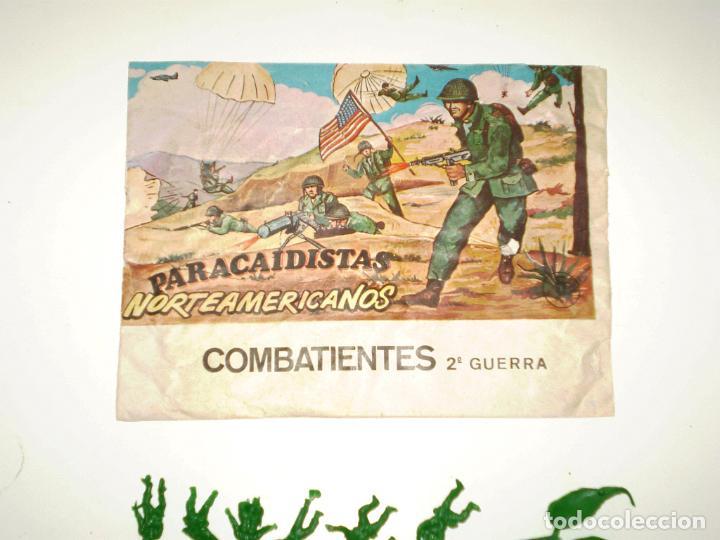 Figuras de Goma y PVC: MONTAPLEX SOBRE PARACAIDISTAS VACÍO + 1 COLADA DE SOLDADOS PARACAIDISTAS AMERICANOS - Foto 2 - 195117840