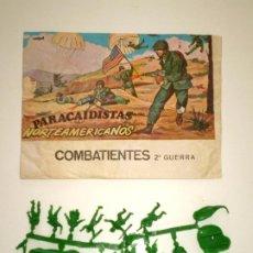 Figuras de Goma y PVC: MONTAPLEX SOBRE PARACAIDISTAS VACÍO + 1 COLADA DE SOLDADOS PARACAIDISTAS AMERICANOS. Lote 195117840