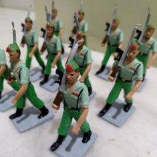 Figuras de Goma y PVC: DESFILE 13 SOLDADOS LEGIONARIOS REAMSA, SERIE SOLDADOS ESPAÑOLES.. Lote 195122662