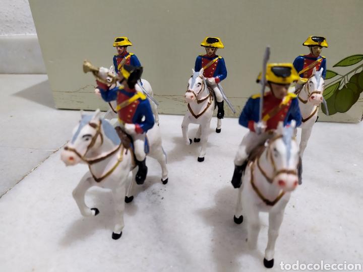 LOTE 5 GUARDIA CIVILES DE GALA CON SUS CABALLOS REAMSA Y GOMARSA (Juguetes - Figuras de Goma y Pvc - Reamsa y Gomarsa)