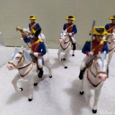 Figuras de Goma y PVC: LOTE 5 GUARDIA CIVILES DE GALA CON SUS CABALLOS REAMSA Y GOMARSA. Lote 195124127
