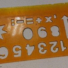Figuras de Goma y PVC: DIBU CRECS : PLANTILLA REGLA Nº 1 REGALO PROMOCIONAL DE PATATAS CRECS AÑOS 80. Lote 195130798
