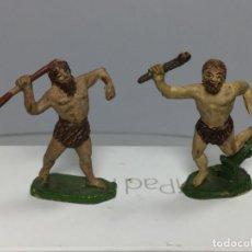 Figuras de Goma y PVC: JECSAN DOS FIGURAS PREHISTORICOS GOMA. Lote 195171097