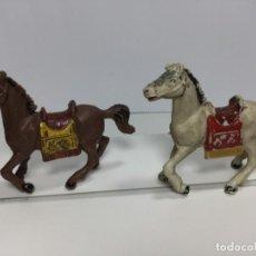 Figuras de Goma y PVC: JECSAN DOS CABALLOS PLÁSTICO. Lote 195171182