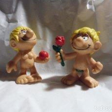 Figuras de Goma y PVC: PAREJA FIGURA GOMA PVC BULLY ADÁN Y EVA KENNEDY CROMO (WEST GERMANY, AÑOS (0. Lote 195228878