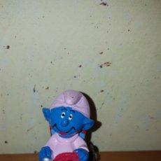 Figuras de Goma y PVC: FIGURA PVC MACIZO PITUFO ESPECIAL PEYO DEL 99 MUÑECO COLECCIÓN PITUFOS. Lote 195247013