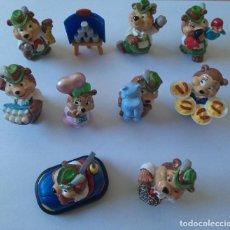 Figuras Kinder: FIGURAS OSOS FERIANTES FERIA MUÑECOS OSITO TEDDY BEAR MONOBLOC. Lote 195297803