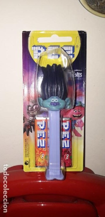 Dispensador Pez: DISPENSADOR CARAMELOS PEZ TROLLS WORLD TOUR BRANCH - Foto 1 - 195304071