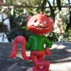 Figuras de Goma y PVC: BULLY FIGURA GOMA PVC GATO DE LA SERIE DON GATO? UNITED ARTISTS,WEST GERMANY 1985. Lote 195327386