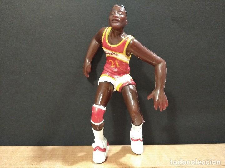 FIGURA JUGADOR NBA WILKINS DE LOS HAWKS-11CM APROX.-YOLANDA-1997-VER FOTOS-B1 (Juguetes - Figuras de Goma y Pvc - Otras)