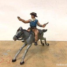 Figuras de Goma y PVC: FIGURA VAQUERO REAMSA OESTE COWBOY WESTERN. Lote 147263550