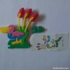 Figuras Kinder: PUZZLE PAJARO KINDER FLORES PLANTAS ANIMAL 90 ISLA TROPICAL PUZLE 3D PELICANO. Lote 195389887