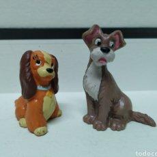Figuras de Goma y PVC: FIGURAS LA DAMA Y EL VAGABUNDO. DISNEY. Lote 195416932