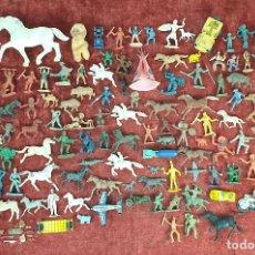Figuras de Goma y PVC: COLECCIÓN DE 121 FIGURAS DE PLÁSTICO. JUGUETES DE PLASTICO Y METAL. SIGLO XX. . Lote 195448198