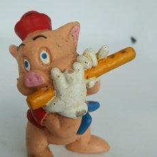 Figuras de Goma y PVC: FIGURA TRES CERDITOS MÚSICO FLAUTISTA, BULLYLAND, DISNEY,. Lote 195448876