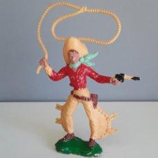 Figuras de Goma y PVC: VAQUERO DE LAFREDO, COWBOY ESCALA 7/8 CMS (CASI GRANDE NO GIGANTE, VER FOTO) GENUINO AÑOS 60.. Lote 195556990