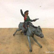 Figuras de Goma y PVC: COWBOY VAQUERO PECH HERMANOS TEIXIDO GOMA AÑOS 50 RARO CABALLO NO REAMSA JECSAN GAMA ARCLA. Lote 195682722