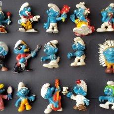 Figuras de Goma y PVC: LOTE PITUFOS SCHLEICH PEYO AÑOS 80. Lote 195694945
