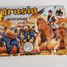 Figuras de Goma y PVC: ANTIGUO JUEGO MONTAPLEX PRUSIA GRUPOS DE COMBATE AÑOS 70 - 80. Lote 195731483