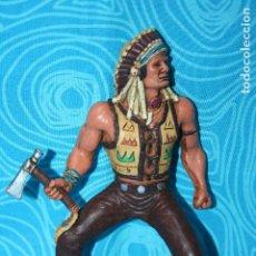 Figuras de Goma y PVC: INDIO 18 CM COMANSI HEROES WILD WEST. Lote 195824860
